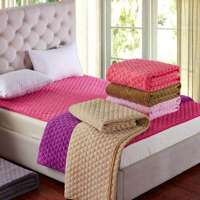 法兰绒加绒床垫软垫褥子双人1.8m床毛毯垫被珊瑚绒冬季加厚保暖2m