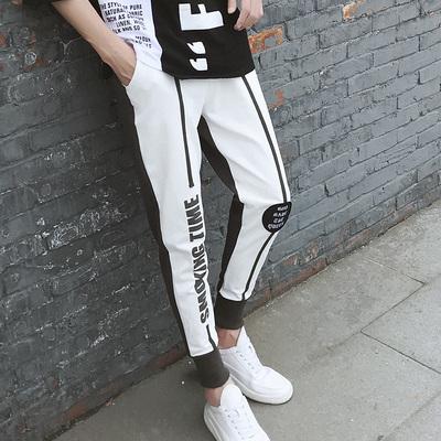 【控40】夏季青少年学生九分束脚裤薄款男士裤子休闲裤B1194 P35