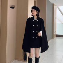 蓝语大码女装胖妹妹mm冬装新款2019气质毛呢大衣显瘦百搭呢子外套