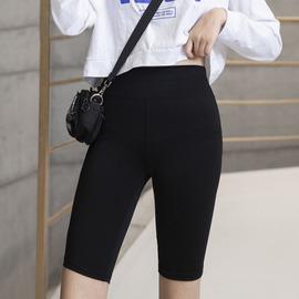 大码女装胖妹妹mm显瘦弹力五分裤夏装新款高腰鲨鱼皮裤遮肉打底裤图片