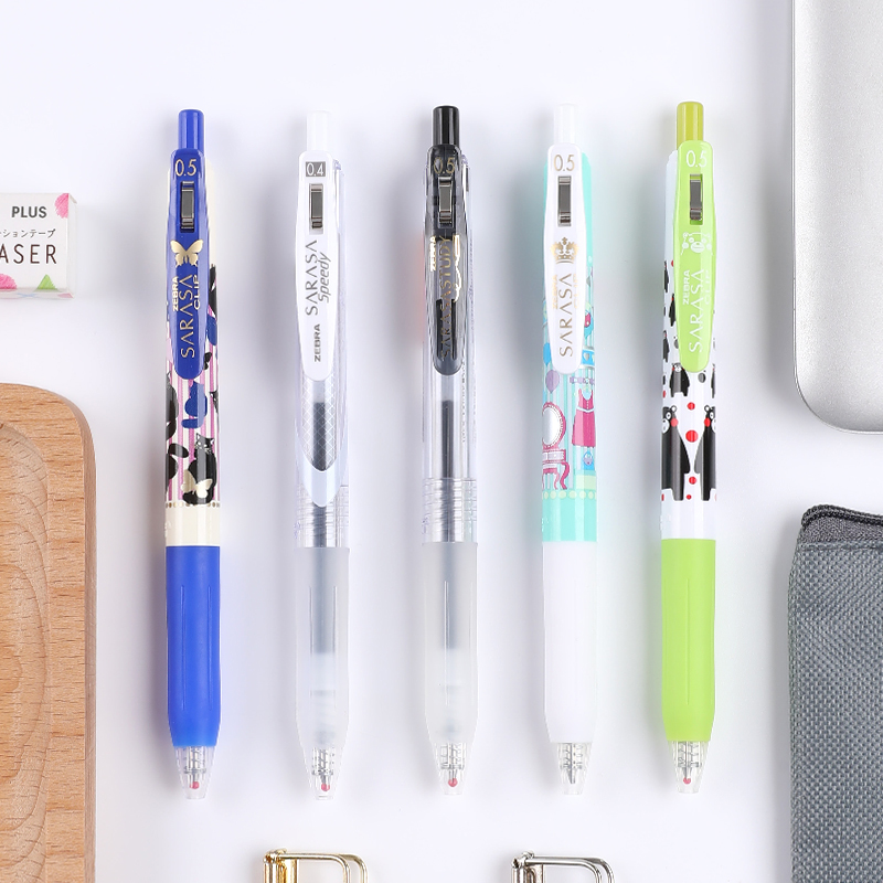 日本ZEBRA斑马笔JJ15按动中性笔套装5支/复古色黑色速干组合实惠装限定版水笔0.5考试笔学生用
