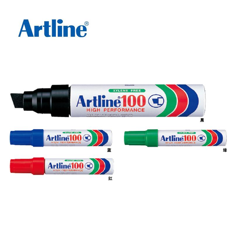 旗牌EK-100雅丽Artline环保型大方头记号笔 大头笔 箱头笔