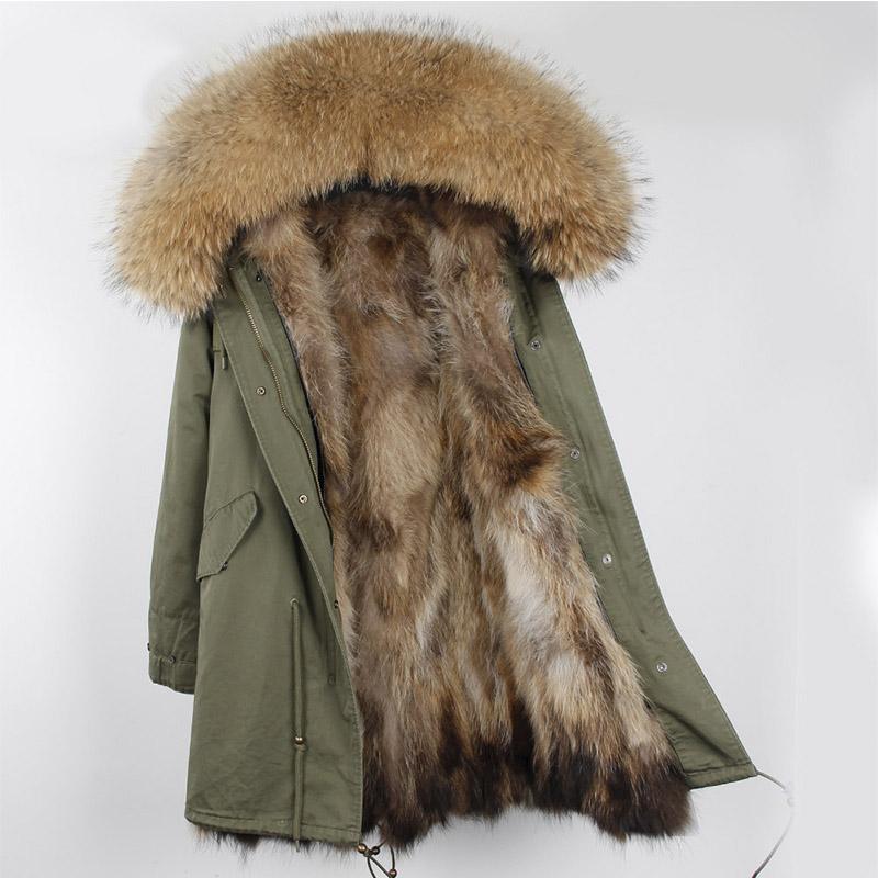 Winter new style raccoon fur fur fur fur coat middle long style pie overcomes detachable large fur collar fur coat female thickening