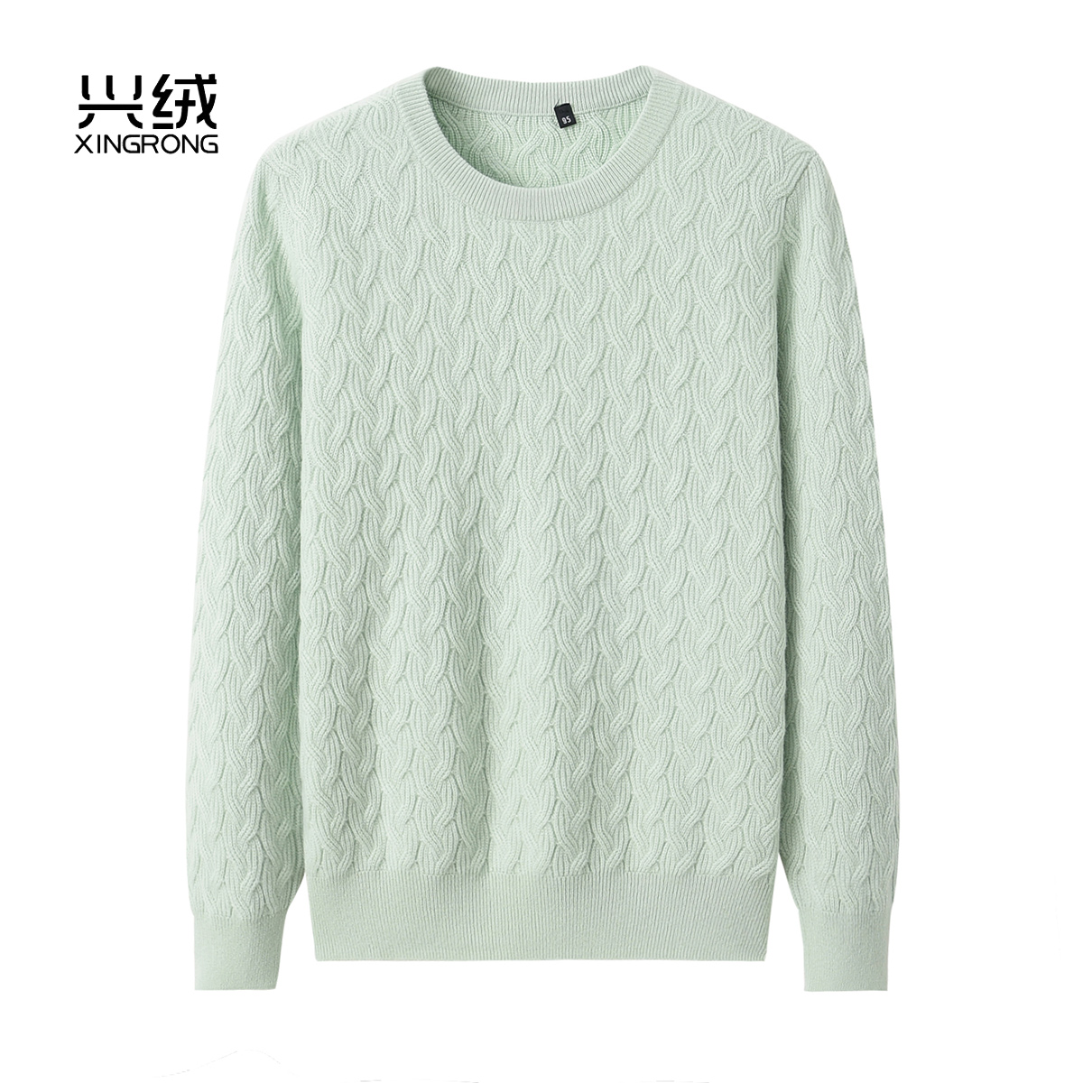 Inner Mongolia 100 pure cashmere sweater womens round neck thickened hollow out solid color knitting loose bottomed sweater autumn and winter new