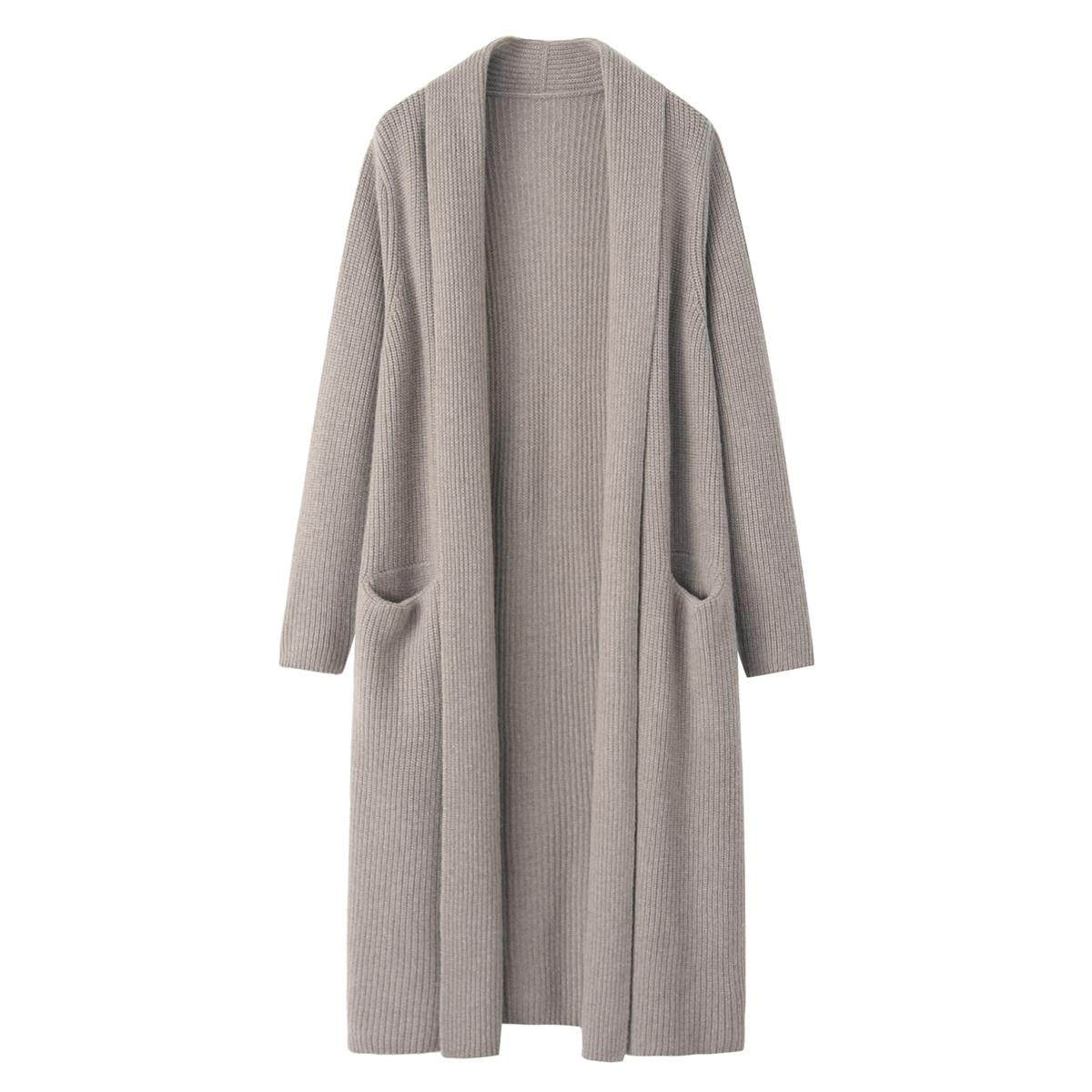 羊绒衫女式立领中长款针织衫韩版气质针织衫加厚毛衣裙秋冬新款