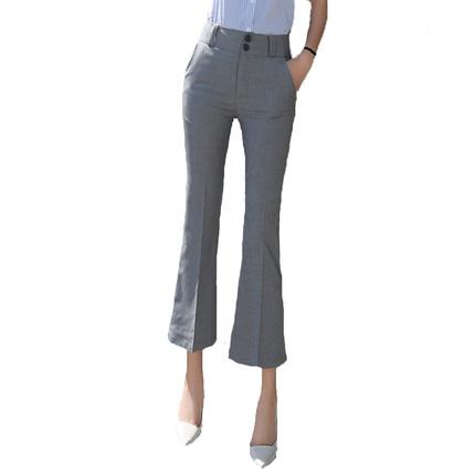 喇叭裤2019新款高腰显瘦西装裤子