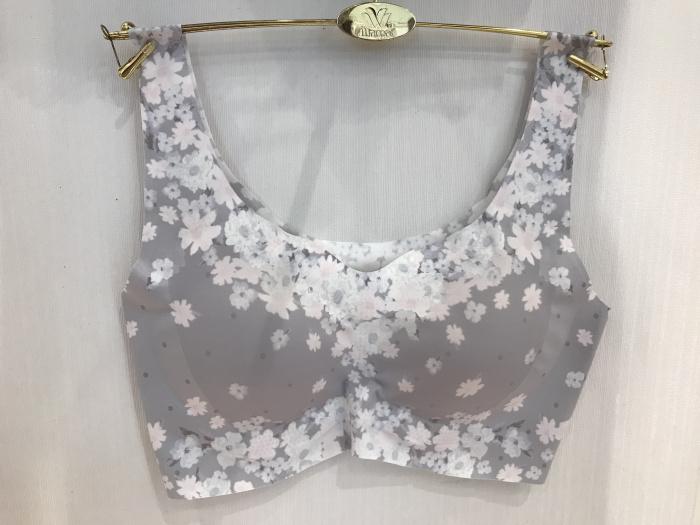 华歌尔专柜新款樱花系列无痕背心式带插片休闲文胸