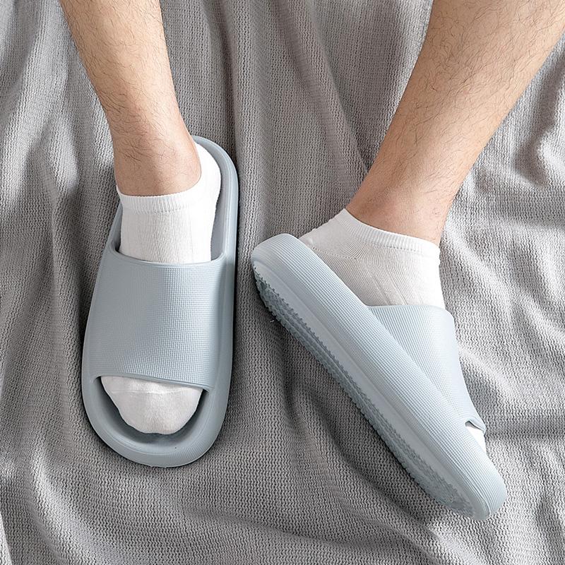拖鞋男士夏室内厚底洗澡防臭软底居家防滑大码四季外穿浴室凉拖鞋