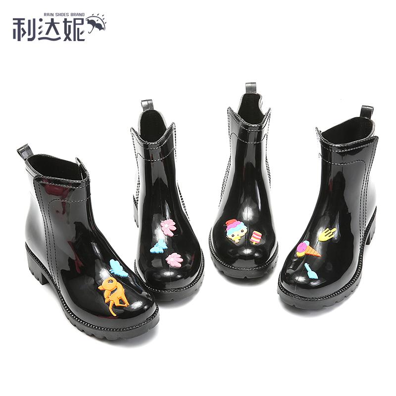 Мода трубка мисс мартин сапоги с дополнительным слоем пуха сохраняющий тепло низкий сапоги девочки скольжение вода обувной корейский крышка обувной клей обувной