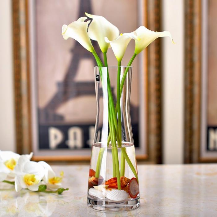 Каждый день специальное предложение простой стекло ваза творческий прозрачный искусственный кристалл стекло гостиная обеденный стол декоративный цветок украшение