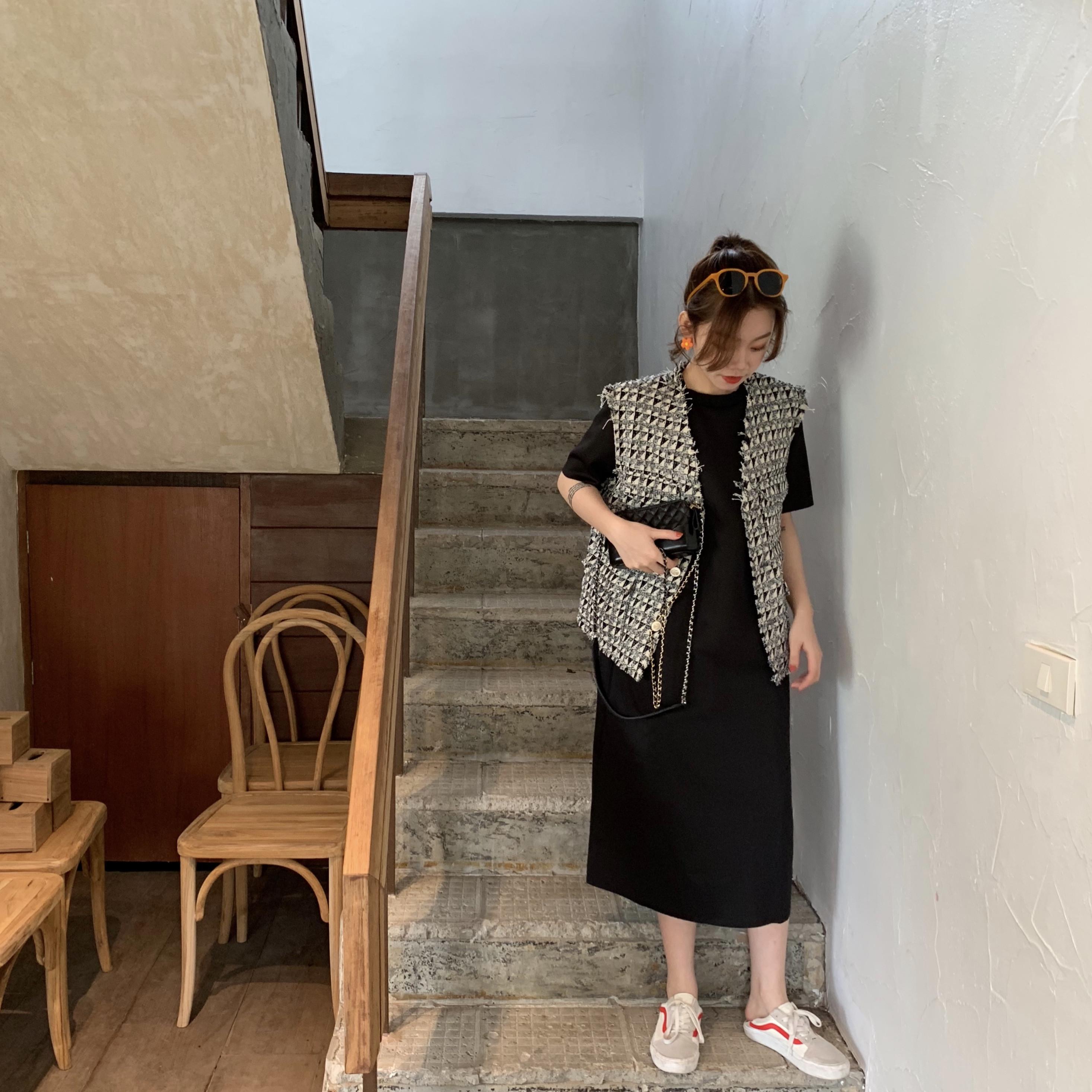 大码女装胖妹妹夏装新款连衣裙子10-18新券