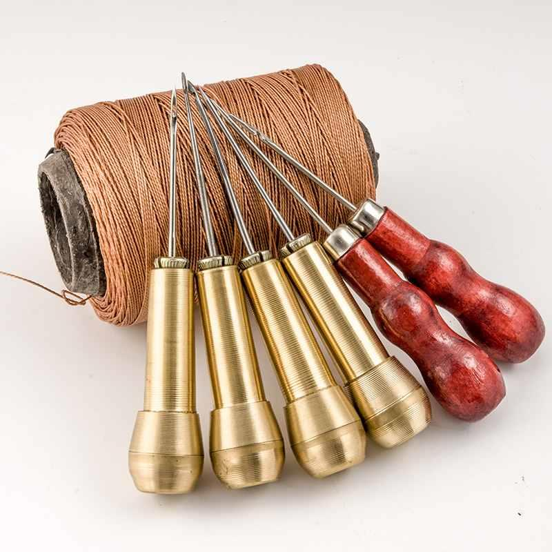 Old fashioned tools sewing shoes round piercing cone punching cone belt shoe drill shoe repairer household awl hook