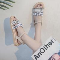 涼鞋女2020年新款夏季百搭一字扣帶學生仙女風羅馬平底鞋子ins潮