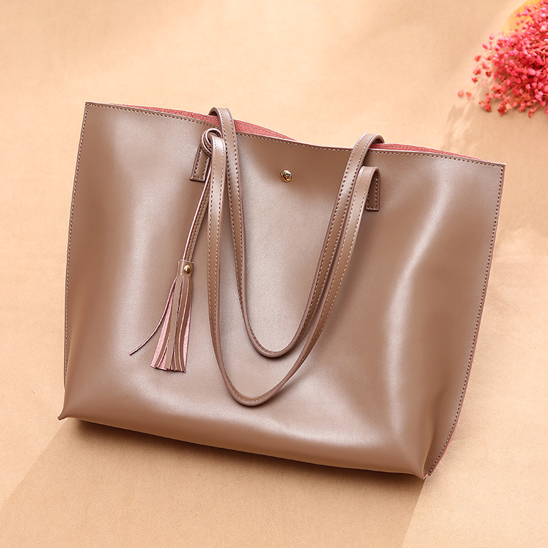 A4 document paper large capacity Tote Bag mother bag leather simple classic women bag one shoulder portable business handbag
