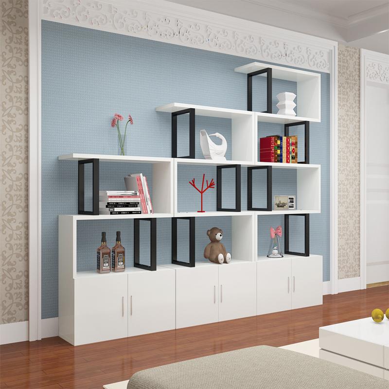 客厅柜子自由组合多功能置物架经济型储物柜简约现代带门书柜书架