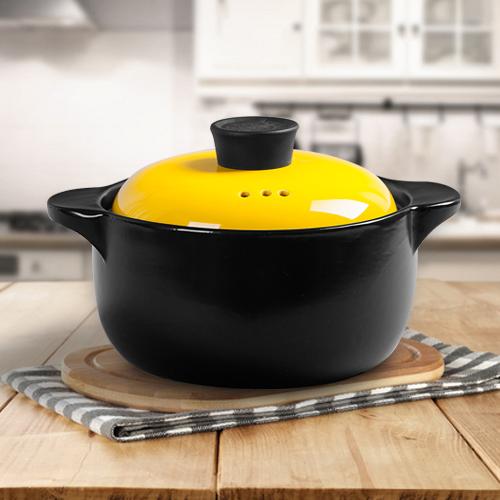橙葉 景德鎮砂鍋陶瓷燉鍋 湯煲湯砂鍋 燉煲湯煮粥煲仔飯 彩鍋耐熱