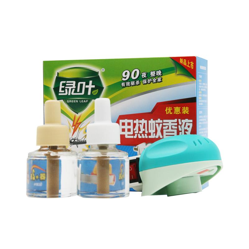 绿叶电热蚊香液90夜蚊香器驱蚊灭蚊2瓶液多地区包邮 直插型