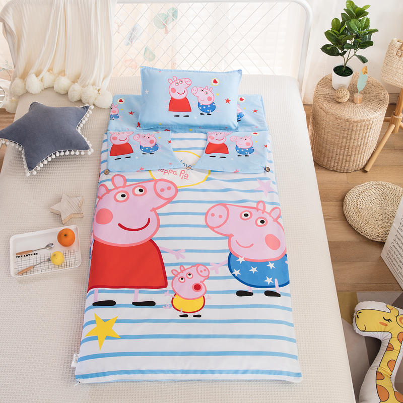 Pure cotton piglet baby middle and large childrens page sleeping bag