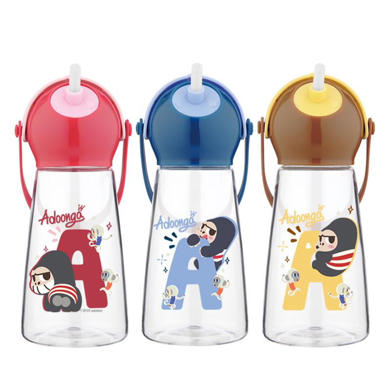 希樂兒童水杯吸管寶寶幼兒園學生卡通防摔防漏便攜塑料隨手杯