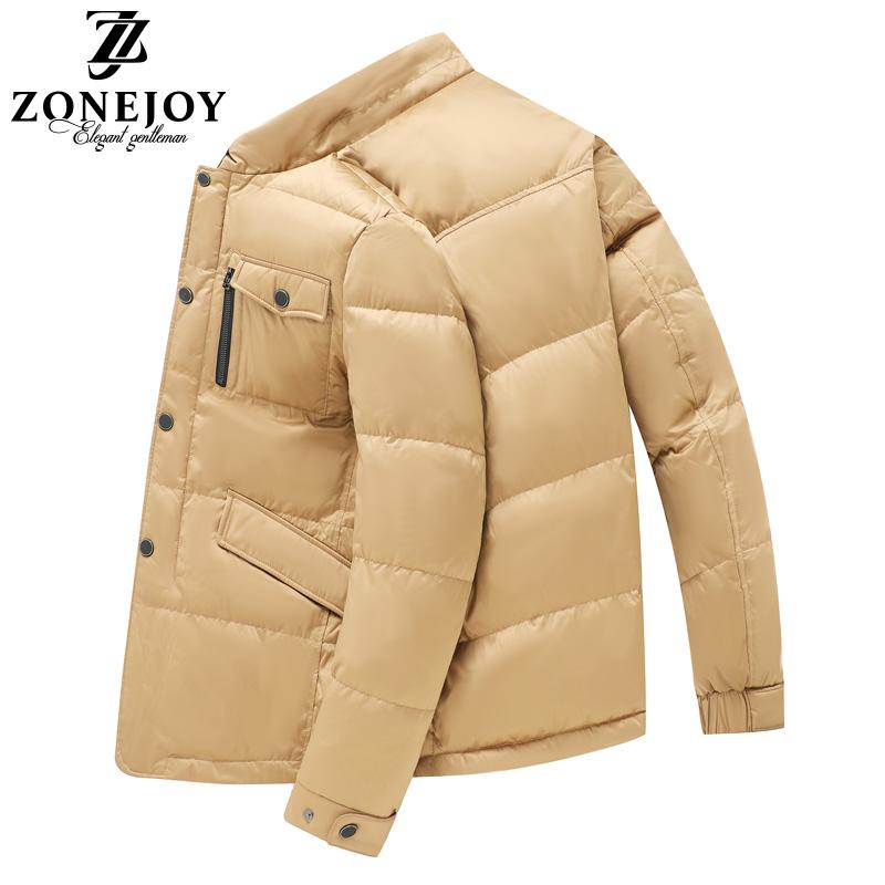 男士短款立领加厚羽绒服冬季韩版潮流修身防寒服青年帅气保暖外套