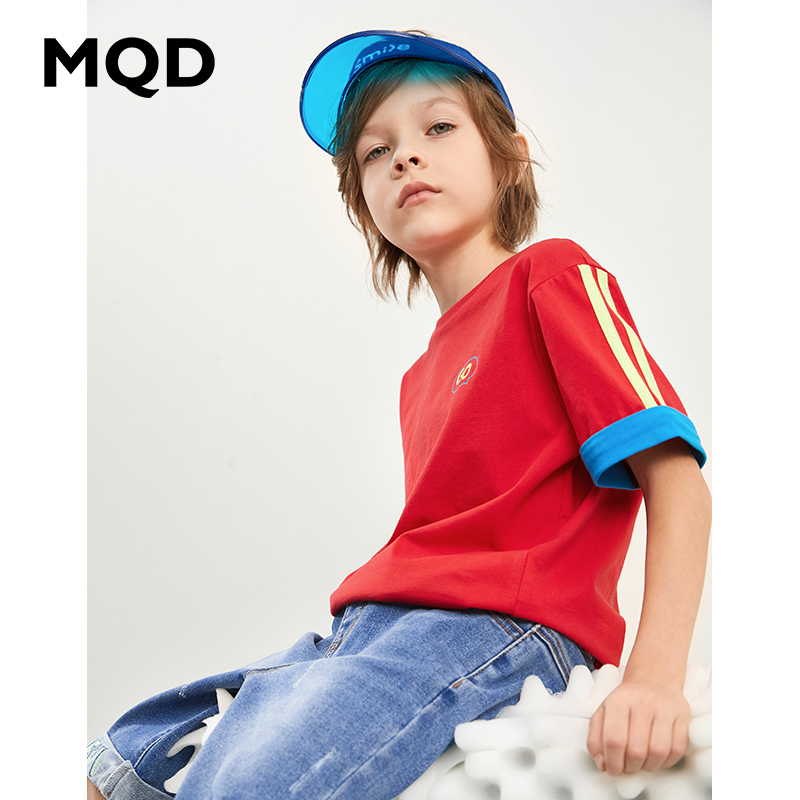 [Z: 89] mqd boys' short sleeve T-shirt big boys' round neck loose top 20 years summer new trend children's fashion