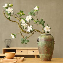 Artificial rhododendron fake flower bud flower branch shape home decoration Chinese Zen ceramic vase display floral
