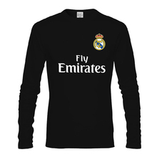 Autumn football loose casual cotton long sleeve t-shirt men and women's couple wear Juve Real Madrid Jersey bottoms no number