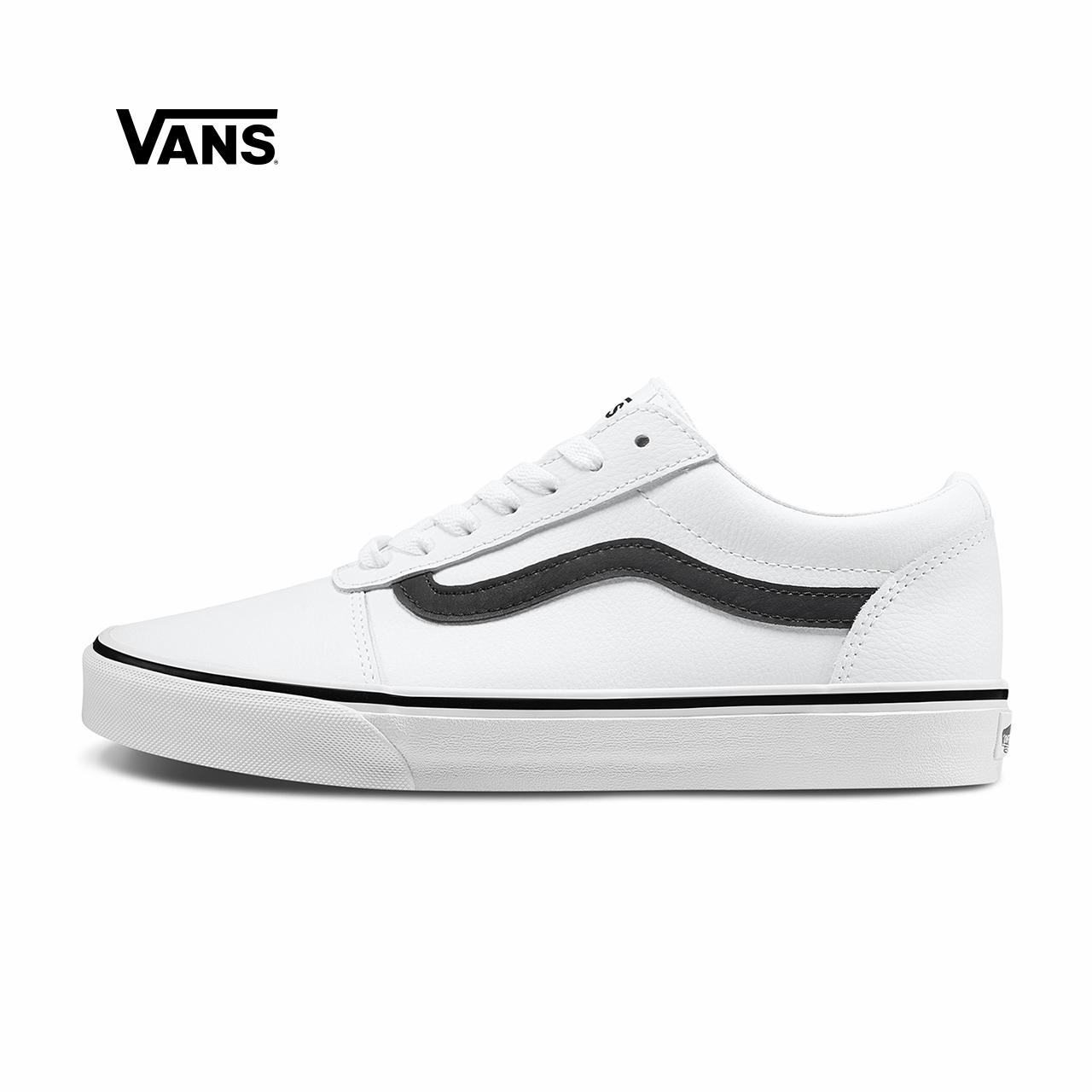热销216件包邮Vans范斯 运动休闲系列 运动鞋 低帮男子白色侧边条纹官方正品