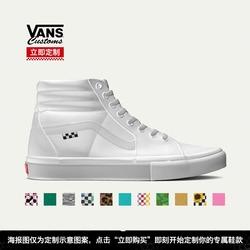【Vans自由定制鞋】Vans范斯官方Sk8Hi滑板鞋Thrasher印花图案