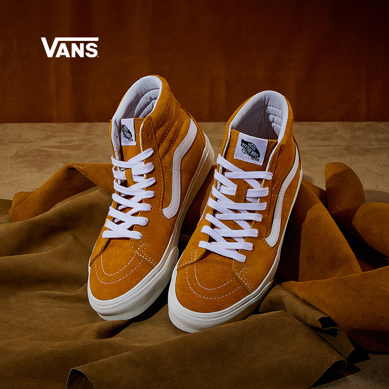 Vans Vans official ginger yellow Vans soda men's shoes women's shoes SK8-Hi high-top sneakers