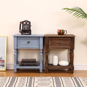 美式床头柜简约实木欧式卧室柜北欧现代小柜子储物柜床边柜多功能
