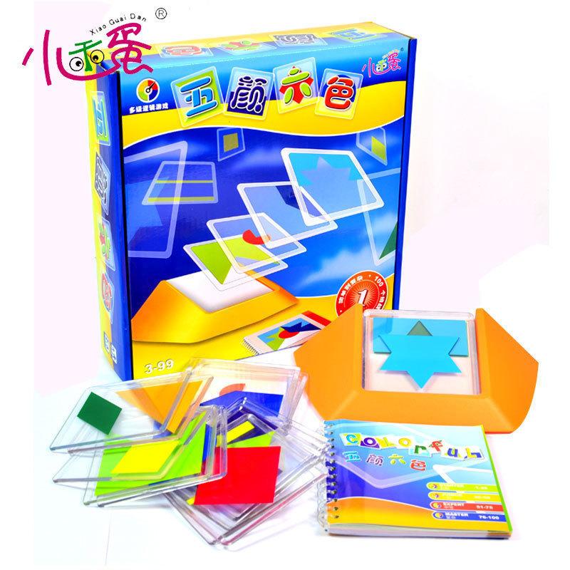 Những quả trứng nhỏ dễ thương đầy màu sắc 0096 trẻ em suy nghĩ ghép hình câu đố 100 tắt đồ chơi giáo dục lý luận hợp lý - Đồ chơi IQ