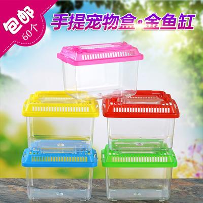 大中小号宠物盒宠物饲养盒金鱼缸乌龟盒塑料封闭式鱼缸乌龟缸特价