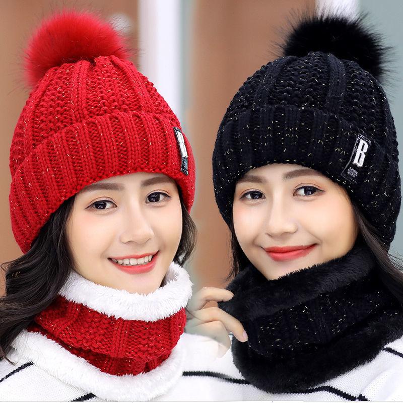 加绒保暖温馨毛线帽女帽针织帽冬帽子女冬季  甜美可爱韩版潮百搭