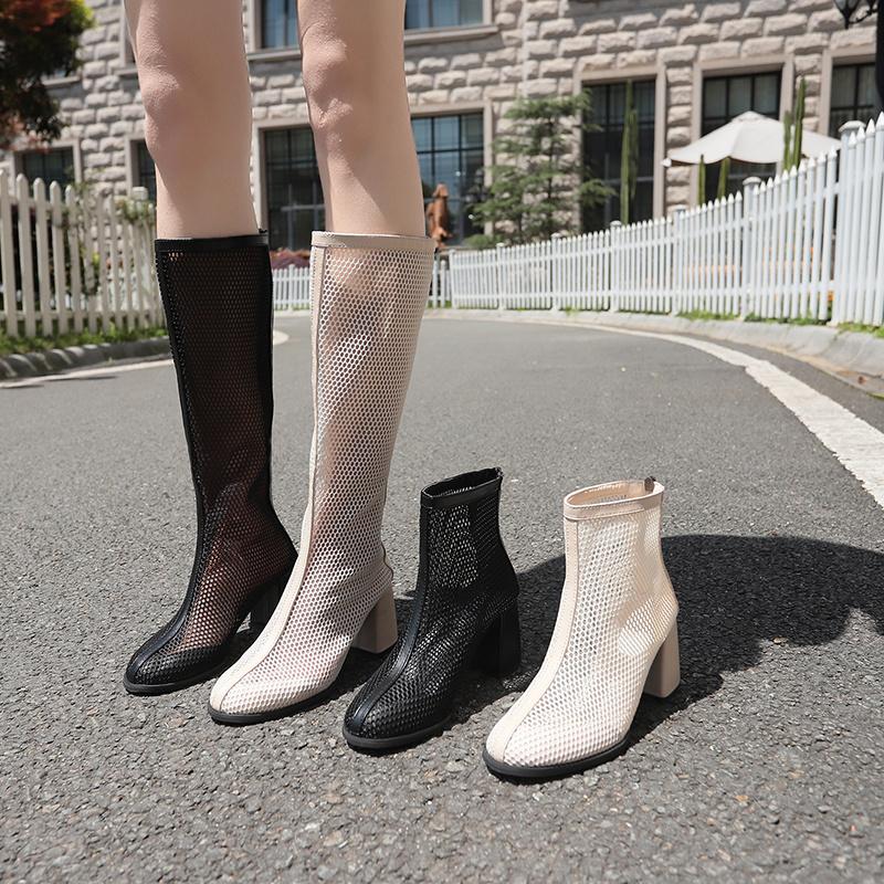 网靴镂空带跟官方网店