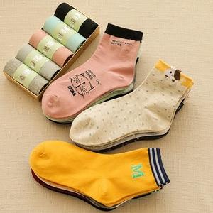 袜子女春秋款短袜浅口中筒春夏季棉袜可爱日系纯色棉袜长筒袜潮