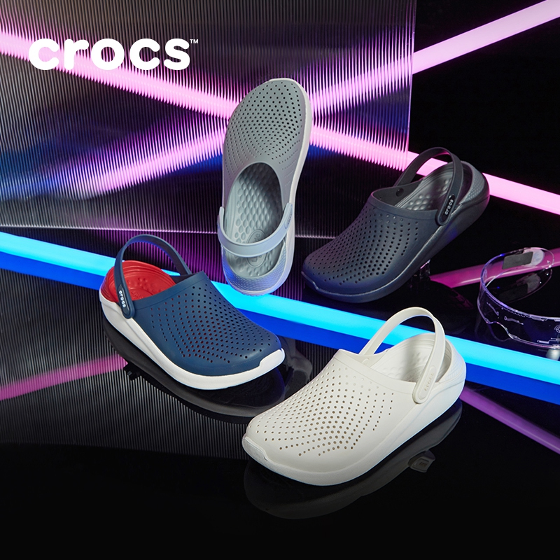 Crocs洞洞鞋男 LiteRide休闲平底沙滩鞋拖鞋女士外穿凉鞋|204592