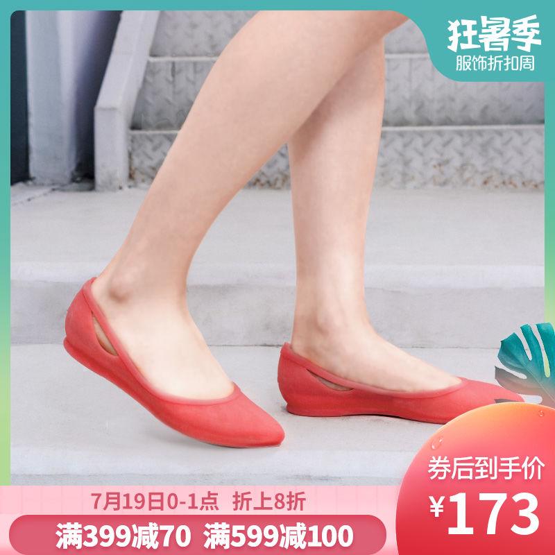 Crocs凉鞋女卡骆驰芮欧仙女风尖头浅口低帮百搭平底单鞋|16265