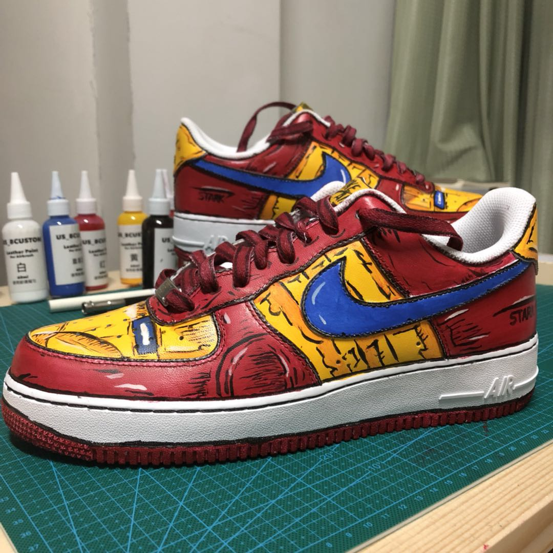 Penny Sneakers Custom DIY Ручная роспись Цветные граффити Iron Man Themes AF1 Air Force One AJ