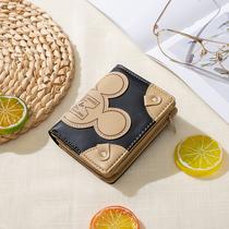 钱包女短款2020新款小巧可爱学生日系复古流量钱包小众设计零钱包