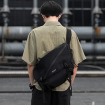 木村耀司男士工装女斜挎包跨包潮牌原宿机能大学生休闲单肩背包