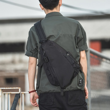 Chest bag, men's single shoulder bag, Messenger Bag, men's bag, trendy brand, all-around fashion, small backpack, Korean leisure men's bag