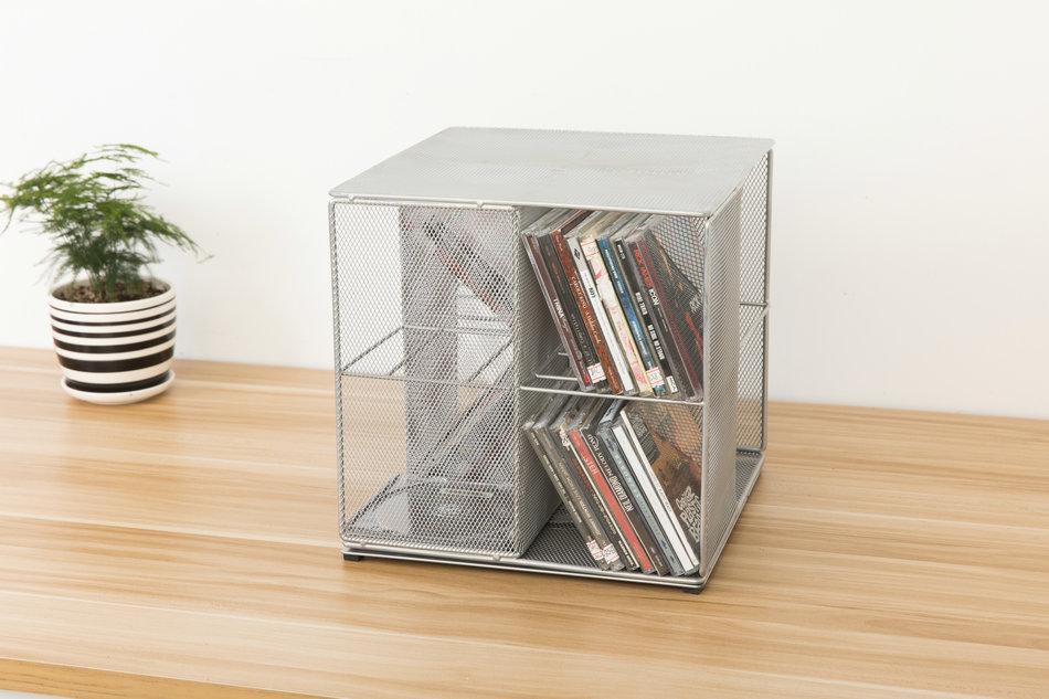 Рабочий стол вращение CD хранение полка европа и мода металл сетка творческий домой офис хранение разбираться