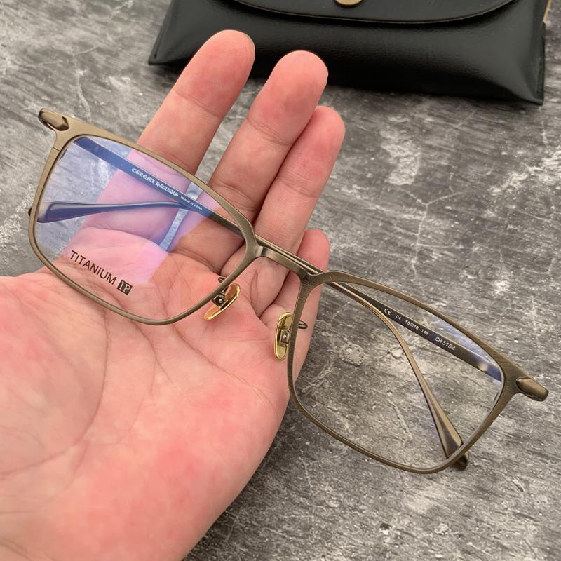 新品宝剑克罗心超轻纯钛方形男士商务眼镜框近视平光5154女眼镜架