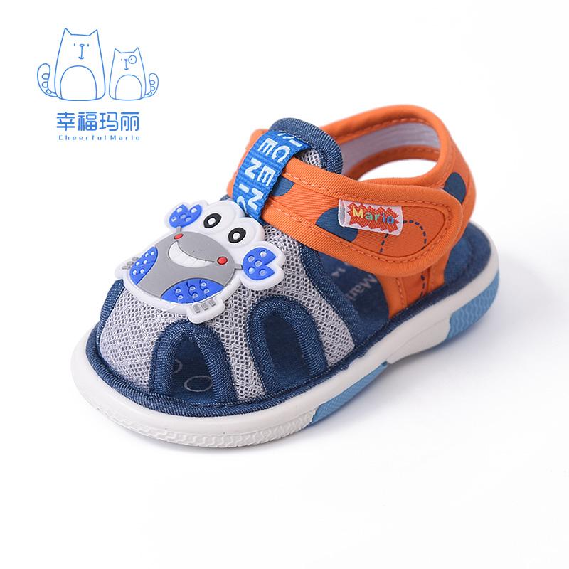 寶寶學步鞋涼鞋嬰兒鞋夏0~1寶寶鞋子1~3歲鞋女軟底春秋叫叫鞋男童