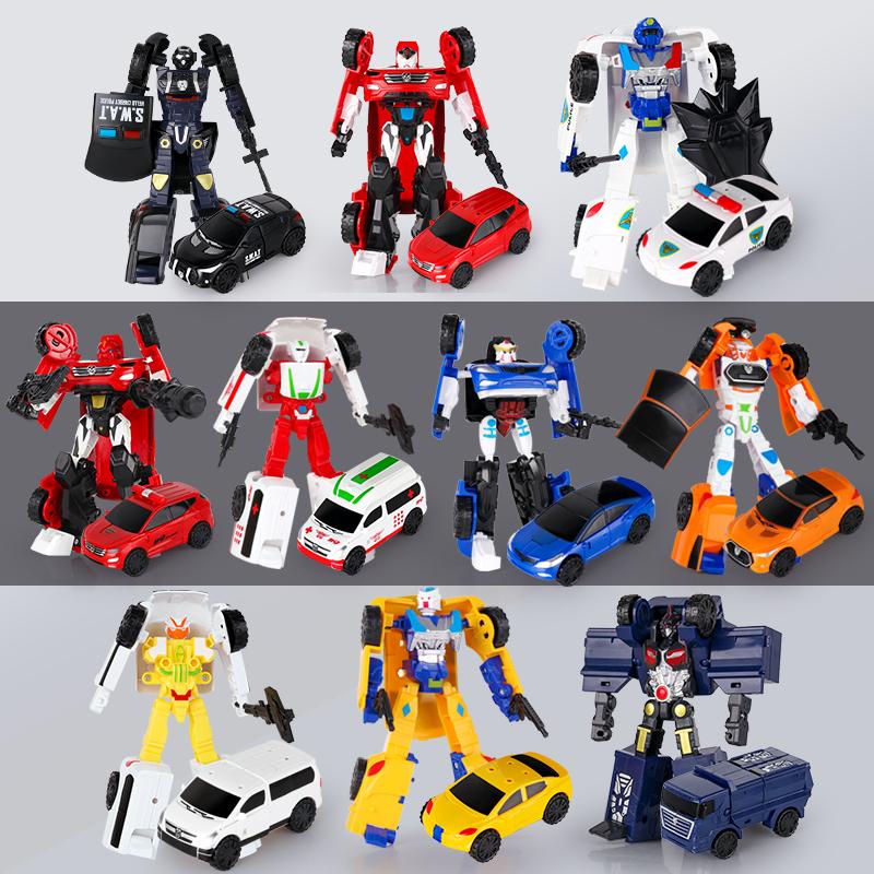 咖宝车神特警先知急救力士变形汽车机器人王牌车手男孩礼物玩具