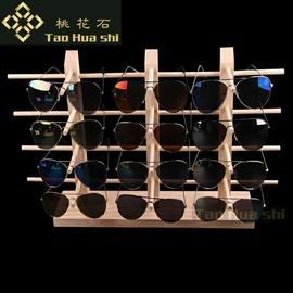 实木眼镜展示架陈列装饰道具高档太阳镜墨镜创意柜台摆件收纳支架
