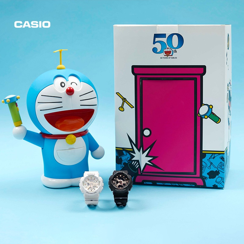 Casio flagship store Doraemon sports watch female quartz electronic watch BABY-G Casio official website official