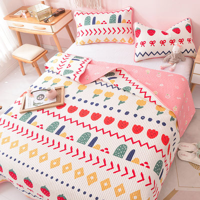 Zhai Xiaobai Korean girl cute pure cotton cotton bed cover quilted bed sheet quilted tatami mat can be customized kang list