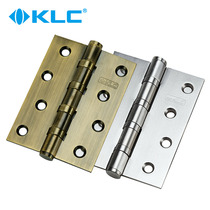 KLC Stainless Steel hinge bearing mute hinge hinge door Flat open page thickened 4 inch loose leaf two pieces